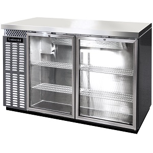 "50"" Stainless Steel Glass Door Back Bar Refrigerator"